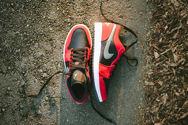 Air Jordan 1 Low Blackgym Redgreen Pulse5