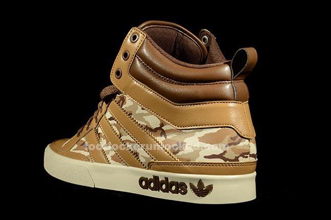 Adidas Top Court Camo Khaki Heel 1