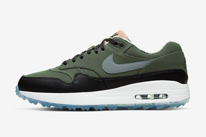 Nike Air Max 1 Golf Cargo Khaki Lateral