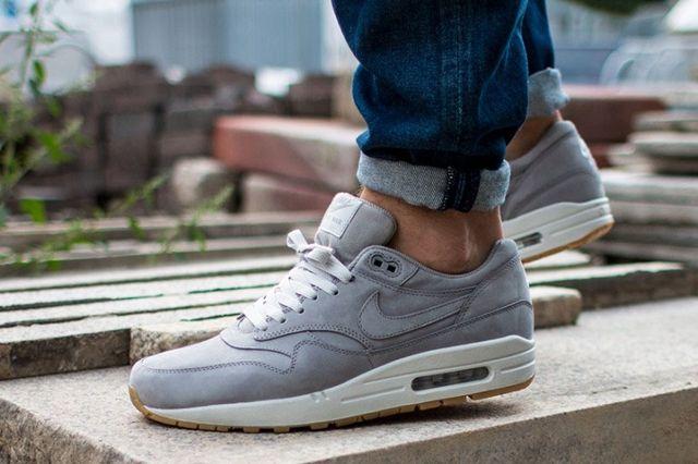 Nike Air Max 1 Leather Premium Medium Grey 21