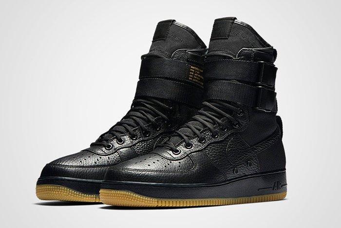Nike Sf Air Force 1 Black Feature 1