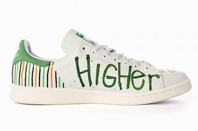 Pharrell Williams Hand Painted Adidas Originals Stan Smith 14