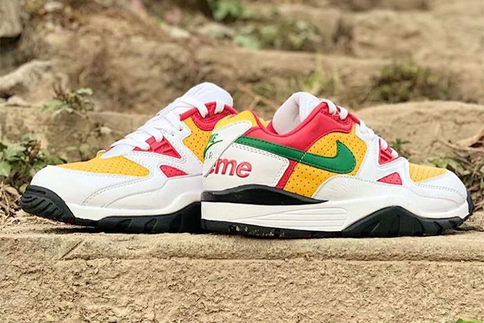 Supreme Nike Air Cross Trainer Iii Low White Pine Green University Gold Leak Release Date Solebyjc