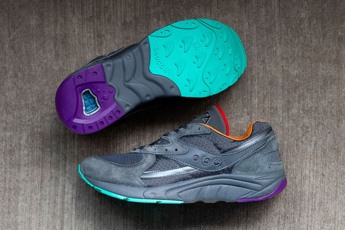Raised By Wolves Saucony Aya Grey Top Sole