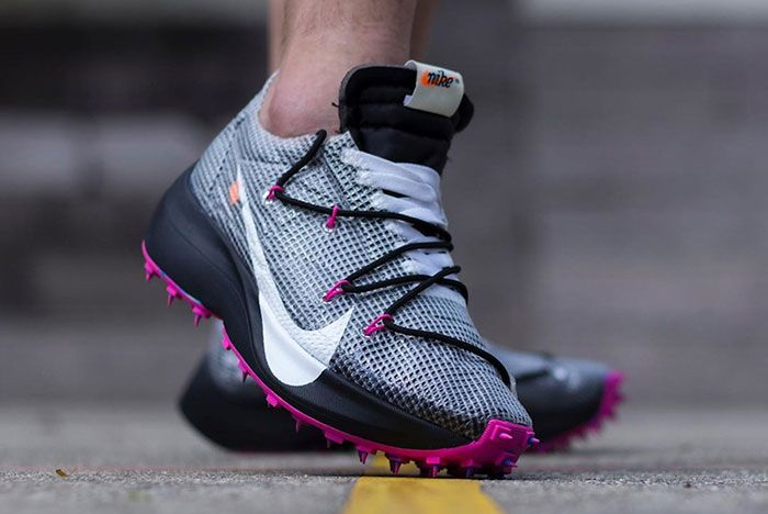 Off White Nike Vapor Street Grey On Foot Front Angle Shot