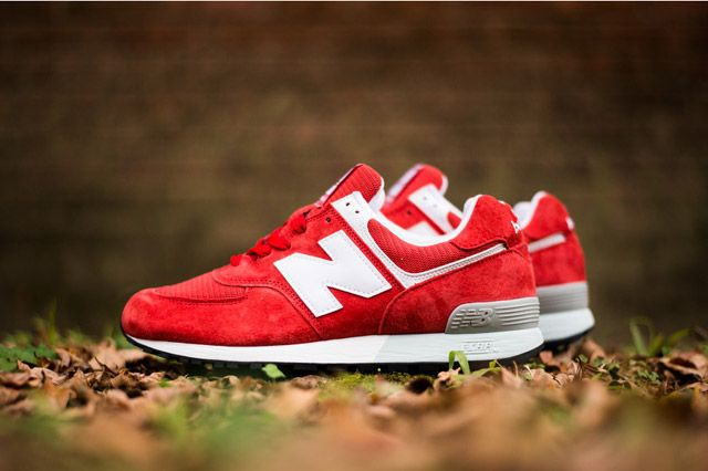 Nordstrom X Newbalance576 Red Sideview