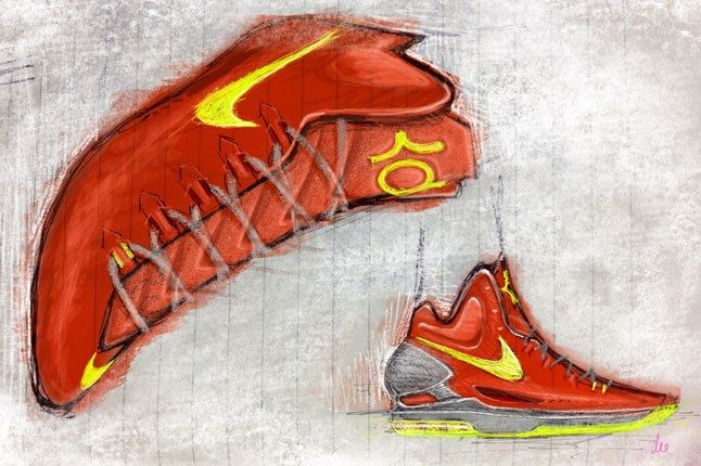 Kevin Durant Nike Sketch 1