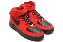 Air Force 1 Mid Red Suede Black Python Post Thumb