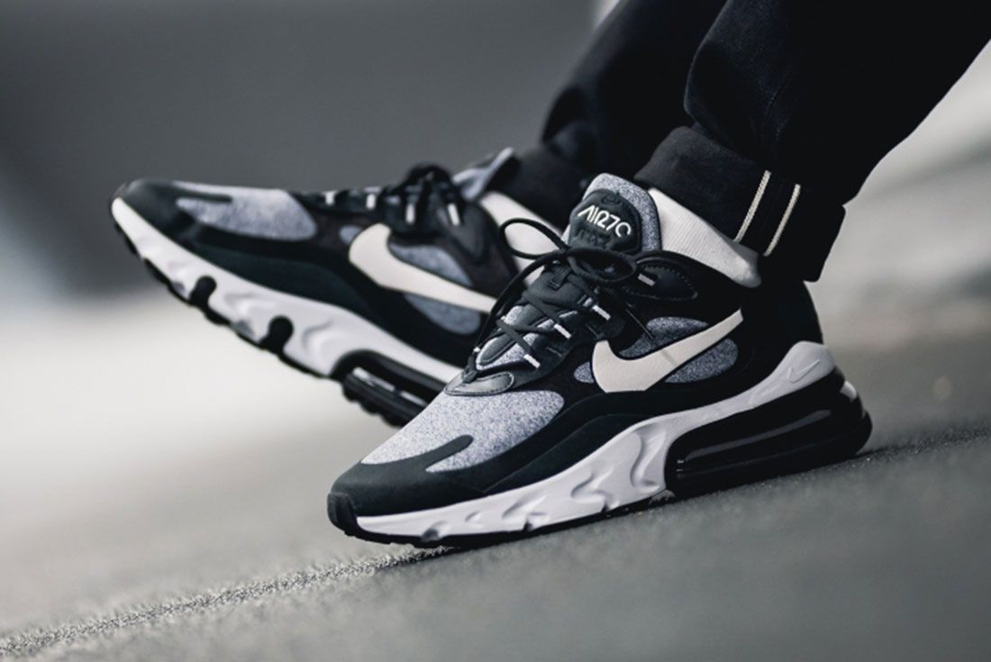 Nike Air Max 270 React Black White Ao4971 001 Mood
