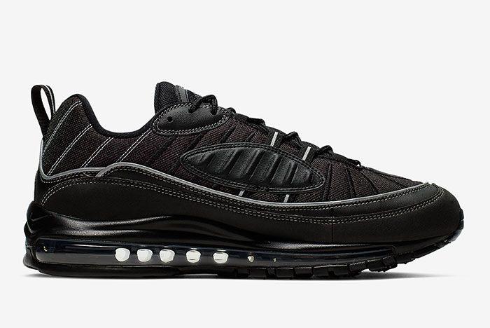 Nike Air Max 98 Triple Black 640744 013 Medial