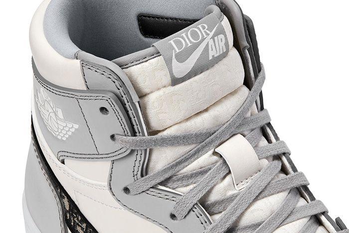 Dior Air Jordan 1 Air Dior Official Nike Images Tongue Detail