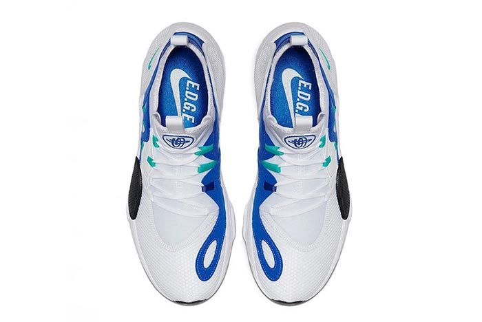 Nike Huarache Edge Txt White Blue Above Shot