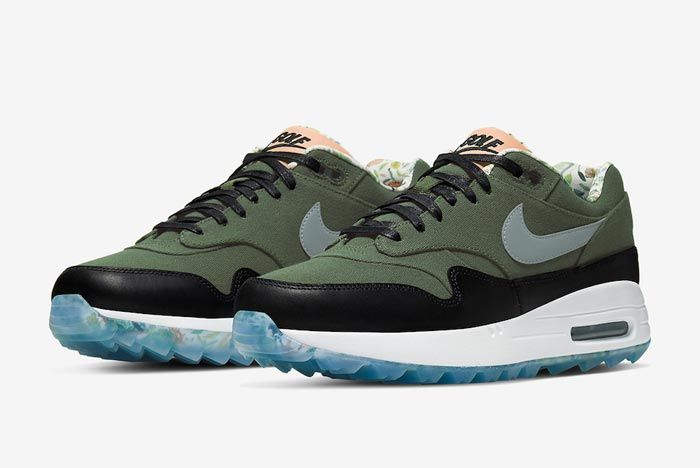 Nike Air Max 1 Golf Cargo Khaki Pair