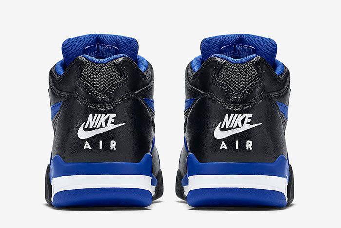 Nike Air Flight 89 Black Royal Blue 819665 001 Heel