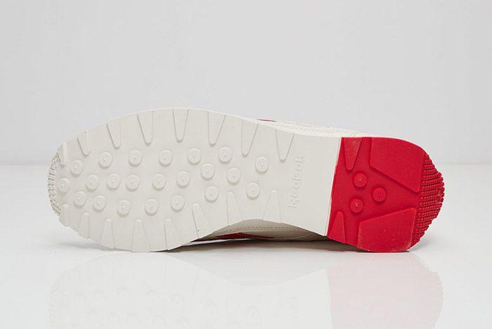 Reebok Aztec Leather White Red 5