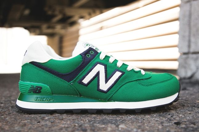 New Balance 574 Rugby Pack Green Profile 1