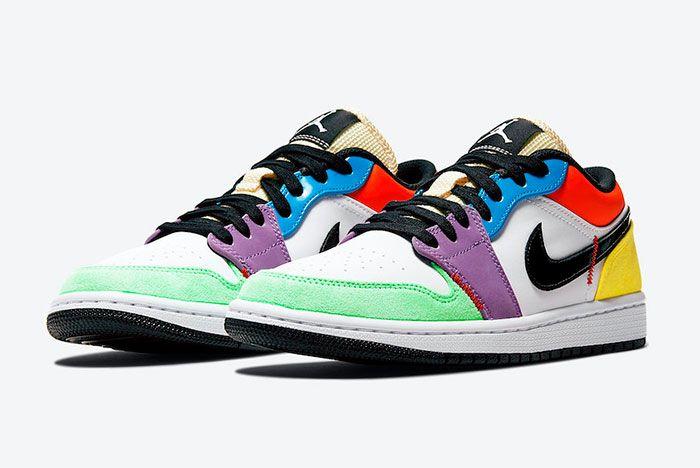 Air Jordan 1 Low Multicolour Toe