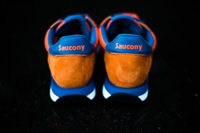 Saucony Jazz Original Orange Blue Heel Porifle 1