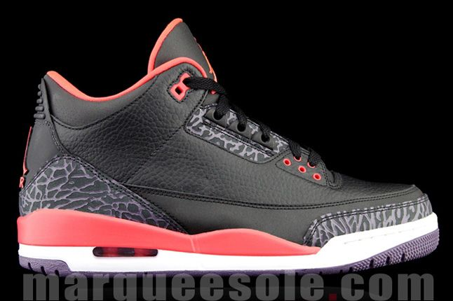 Air Jordan 3 Bright Crimsom Heel Side Profile 2013 1