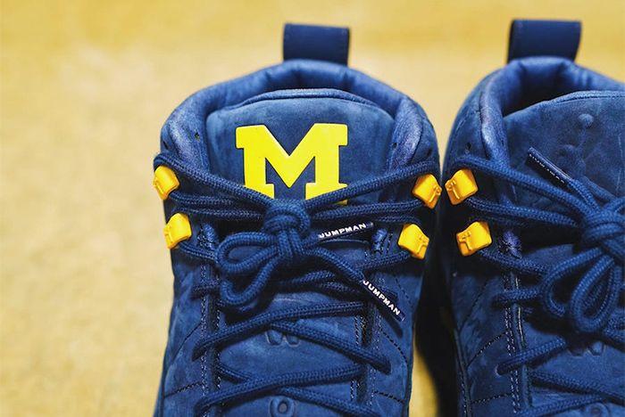 Air Jordan 12 Michigan Bq3180 407 Tongue Branding Sneaker Freaker