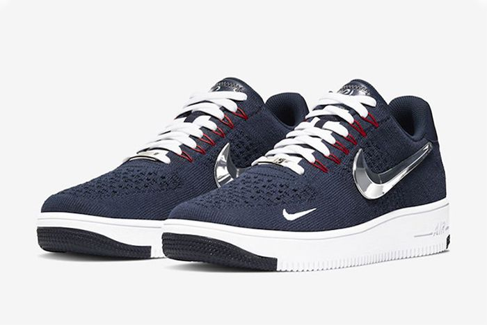 Nike Air Force 1 Flyknit New England Patriots Quarter