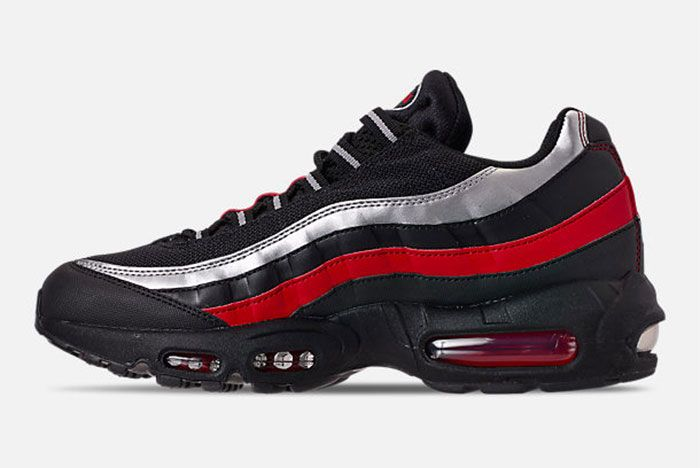 Nike Air Max 95 Black Red Silver Left