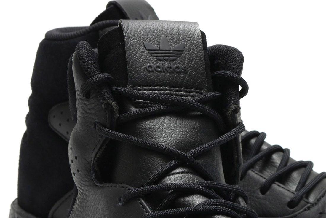 Adidas Tubular Instinct Black Leather 4