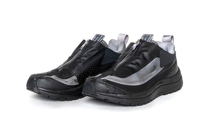 11 By Boris Bidjan Saberi X Salomon Spring Summer 2020 Footwear Blue Black Low Three Quarter Lateral Side Shot