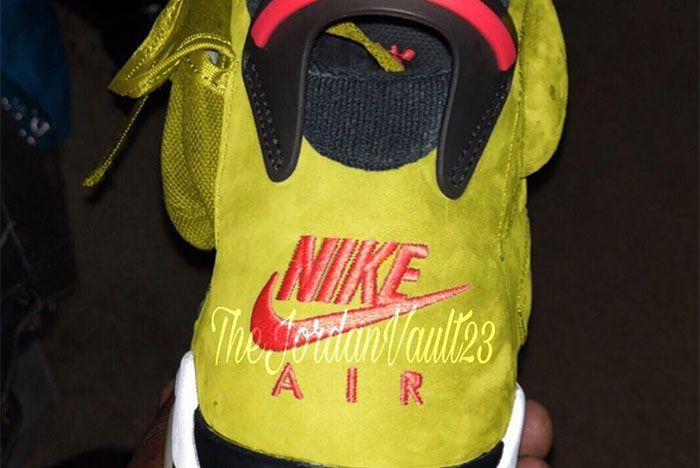 Travis Scott Air Jordan 6 Yellow Heel 2