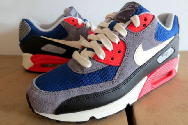 Nike Wmns Air Max 90 Dark Royalblue Charcoal 2012 Pair 2