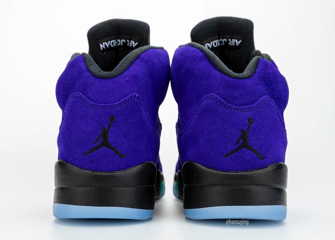 Air Jordan 5 Alternate Grape Heel