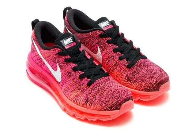 Nike Flyknit Air Max Wmns Pink Foil Hot Lava