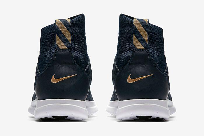 Nike Free Hypervenom Iii Flyknit Navy Blue Gold 2