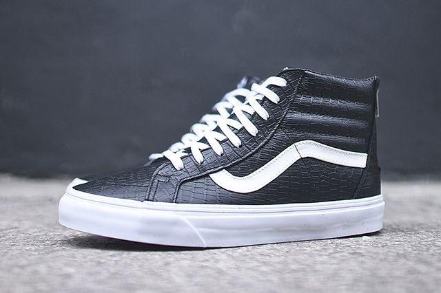 Vans Sk8 Hi Zip Ca Black Croc 2