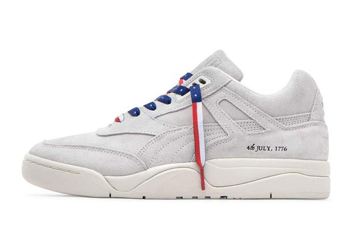 Puma Palace Guard 4Th Of July Whisper White 370597 Lateral Side Shot