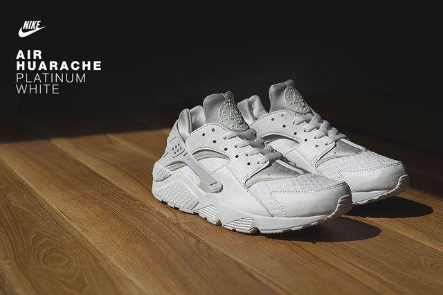 Huarache Platinum White Fearure