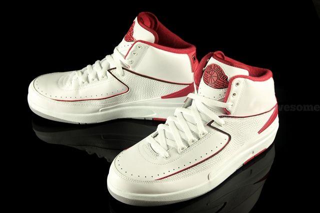 Air Jordan 2 White Varsity Red 3
