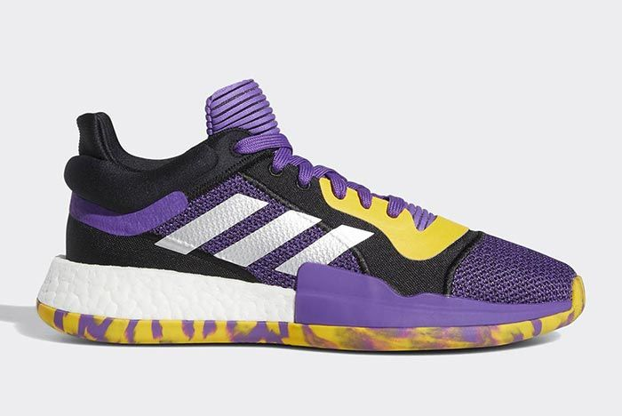 Adidas Marquee Boost Low Lakers 1
