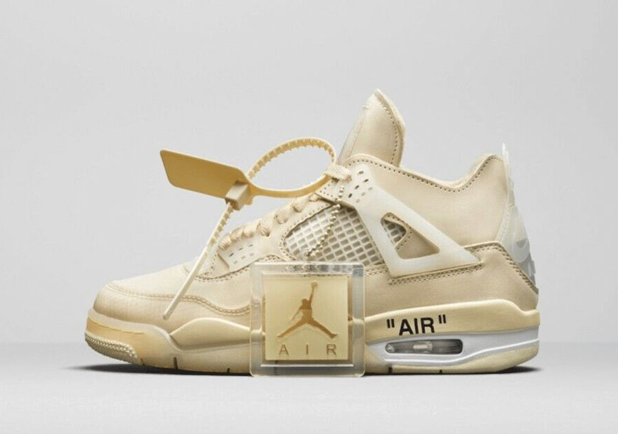 Off-White x Air Jordan 4 Sail Left