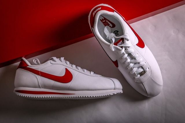Nike Cortez White Varsity Red 1