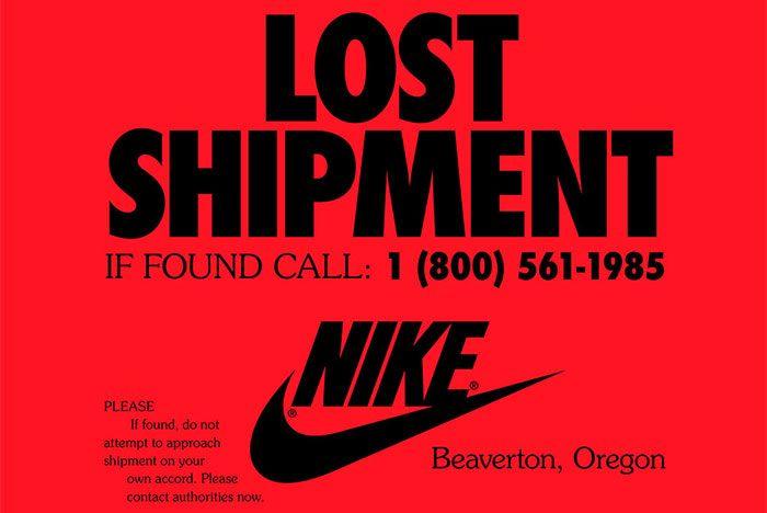 Nike Missing Shipment Flyer Front Shot