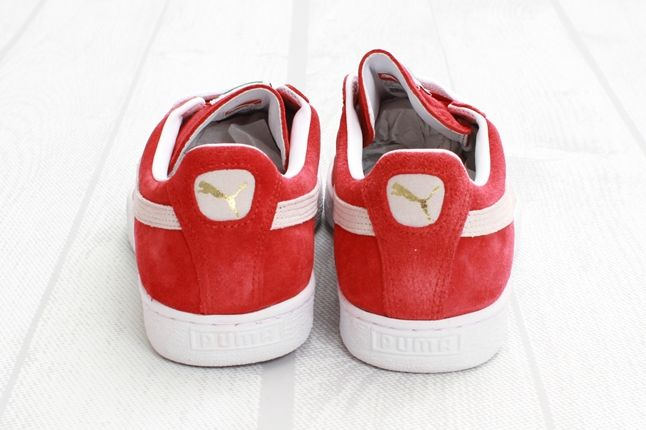 Puma Suede Red White Heel Profile 1