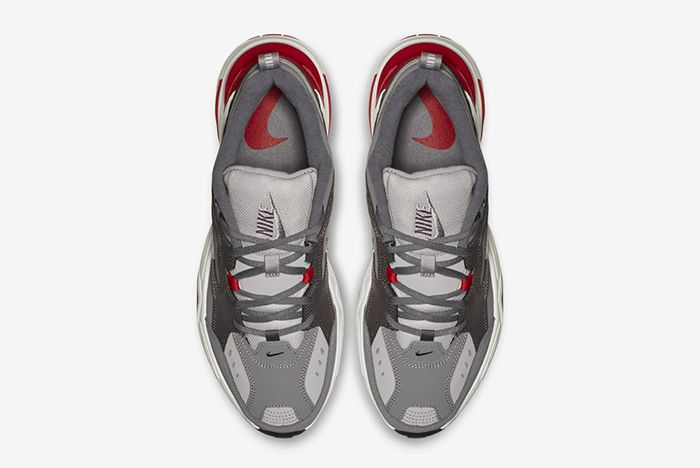 Nike M2K Tekno Gunsmoke Natural Heather University Red 3