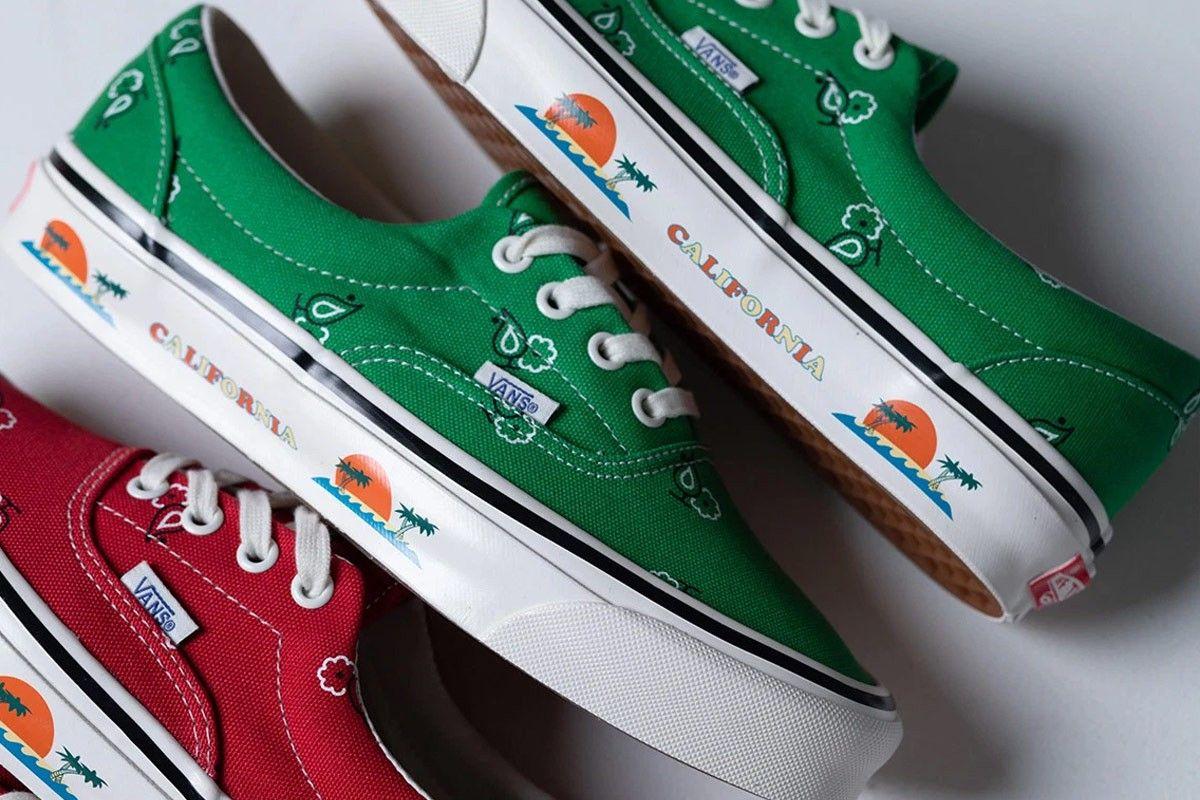 Vans OG Era LX Paisley Green Top