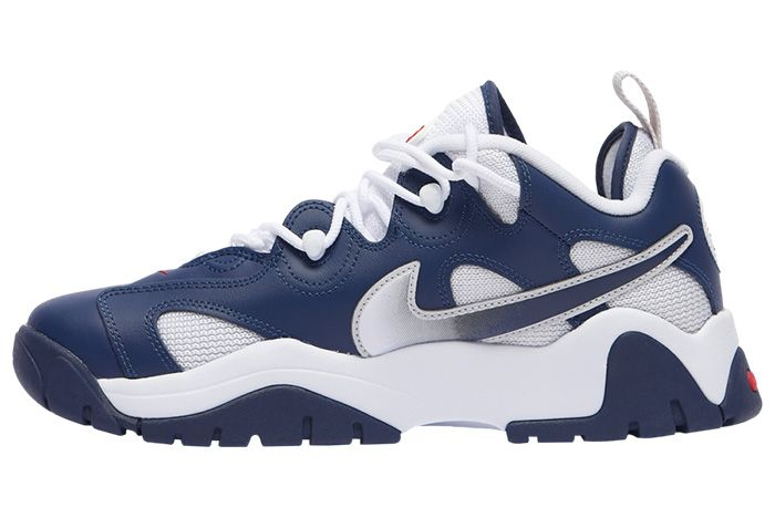Nike Air Barrage Low Navy White Red Cn0060 400 Release Date 4 On White 5