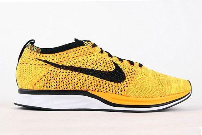 Nike Flyknit Racer Yellow Black 1