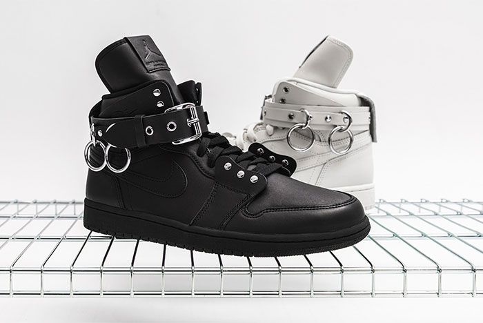 Comme Des Garcons Air Jordan 1 Black And White Together