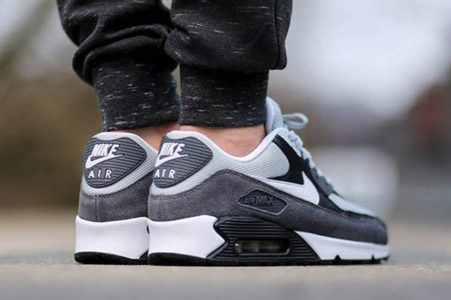 Nike Air Max 90 Essential Grey Mist White Black Dark Grey 2