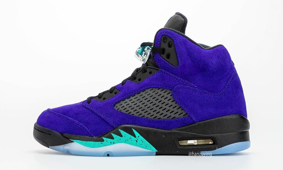 Air Jordan 5 Alternate Grape Left