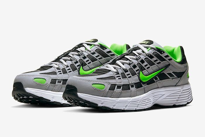 Nike P 6000 Wolf Grey Electric Green Cd6404 005 Release Date 4Official